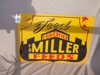 "LOT 76  ""MILLER FORTIFIED FEEDS METAL SIGN"":"
