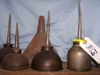 LOT 61  &quot;4 OIL CANS - 1 FUNNEL&quot;: 