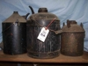 "LOT 64  ""2 OIL CANS - 1 FUEL CAN"":"