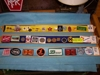 "LOT  ""3 TRAYS OF BADGES, BUTTONS, PATCHES, COINS, KEY CHAINS"":"