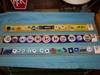 LOT 94  &quot;3 TRAYS OF PINS, BUTTONS, INSIGNAS, MONEY CLIP&quot;: 