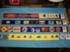 "LOT 96  ""4 TRAYS OF STICKERS, BUTTONS, MATCH BOXES"":"