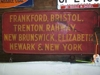 LOT 4  &quot;METAL RR SIGN&quot;: 