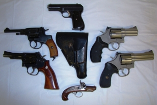 : We have a great selection of hand guns