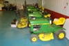 Several vintage JD lawn mowers and a 420 with a new short block, tires and all that is ready to mow!: