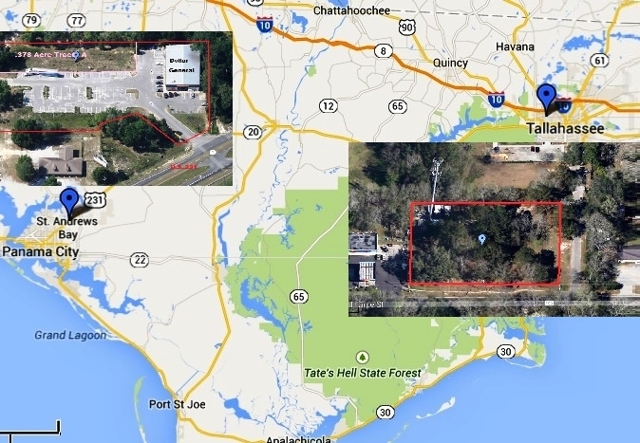 Absolute Auction of Two FL Panhandle Commercial Lots