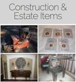 Estate and Construction Items Auction online Auction MD