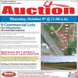 9 COMMERCIAL LOTS - NO BUYER'S PREMIUM