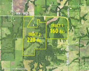 GONE! 380 ACRE LAND AUCTION - CAMERON, MO (Just East of Wallace State Park)