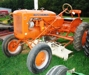 C Allis Chalmers with belly mower: