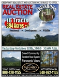 394 Acres +/- Sold in 16 Tracts