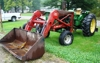 1963 J.D. 4010, gas, wide front, w/Westendorf loader & bale spear, new rears: