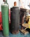 Oxygen tanks, drill press: