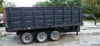 Schuler 16' gooseneck grain trailer, 3 axels, electr over hydr., metal bed: