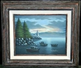 ECLECTIC COLLECTION AUCTION! FINE OIL PAINTINGS, LAMPS, SPORTS MEMORABILIA, BELL COLLECTION & MORE!