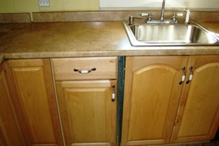 : New cabinets, countertops and flooring