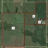 354 total acres (+/-) incl. farm ground, pasture & acreage site
