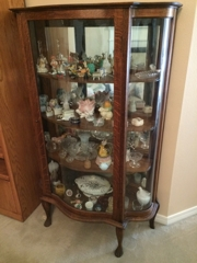 Antique Bow Front Cabinet