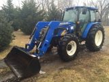 FARM EQUIPMENT AT LIVE AUCTION - NEW HOLLAND TRACTOR - '09 CHEVY TRUCK - '05  FEATHERLITE (3) HORSE TRAILER