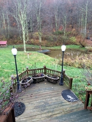 view Pond from wrap around deck