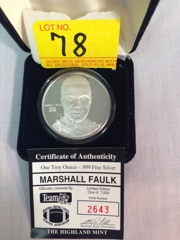 Marshall Faulk Silver Medallion