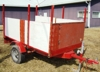 HOMEMADE 8X6 TRAILER WIRED W/TAILLIGHTS-HAS TITLE: