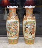 ECLECTIC COLLECTION AUCTION! VINTAGE ORIENTAL FURNITURE, OIL PAINTINGS, LARGE SATSUMA VASES & MORE!
