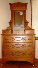 : Antique oak dresser with hankerchief drawers