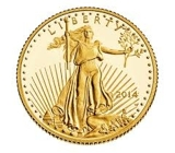 PRIVATE GOLD COIN COLLECTION AUCTION; AMERICAN EAGLE ONE-TENTH OUNCE FIVE DOLLAR GOLD PROOF COIN WITH COA'S!