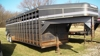 24' TravAlong goose neck stock trailer: