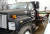 1993 GMC  2 Ton w/tag axle 16' bed w/dove tail and folding ramps,: