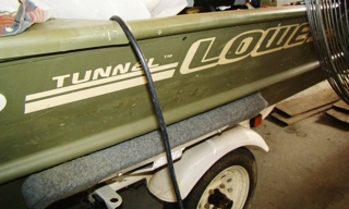 : 16' Lowe flat bottom tunnel boat with Johnson 35 hp. Jet drive-NICE