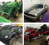 Collector Cars, Motorcyles, JD Tractor, Forklifts
