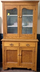 Antique Step-back Oak Kitchen Hutch