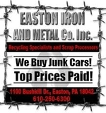 ** SCRAP METAL RECYCLING FACILITY ** Easton (PA) Iron & Metal ** Conducted by CASPERT Auctioneers & Appraisers of Englewood Cliffs, NJ **