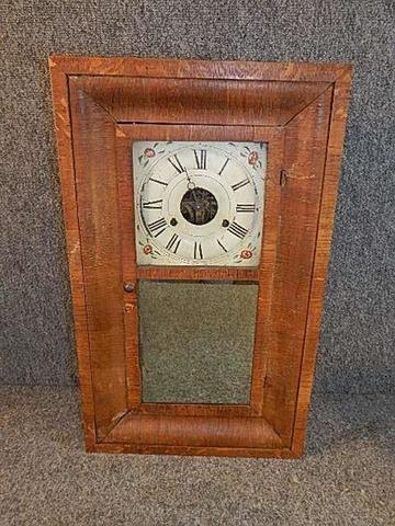 ... Vintage Oak Case OGEE Kitchen Clock With Weights In Pendulum Needs New  Hand On Face 26 ...