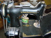 Singer #221 with 2 quilting feet and carry case-parts and oil: