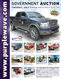 Tuesday July 7 Government auction