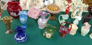 Hand-painted Fenton Pieces