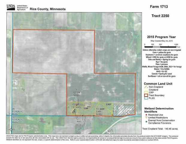 231 ACRES OF PRIME BARE CROP LAND IN WELLS TWP. RICE CO. MN. FOR ...
