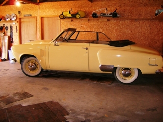 1951 Studebacker Champion Convertible: 1951 Studebacker 'Champion' 2 door convertible, elec. top, 3 speed w/overdrive, radio works, good interior w/newer seats & original sides, sharp!