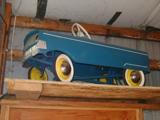 1 of 9 pedal cars: Murray blue pedal car