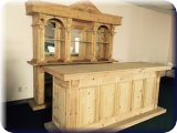 Unfinished Solid Pine Bar