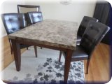 Contemporary Furniture/ Granite Dining Room Table