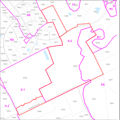 Map View w/ Zoning of Parcels 1 & 2