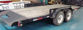 16 ft. tilt bed trailer: