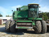 J.D. 8820 Combine 4x4 #515378-good rubber: