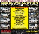 SPECIAL AUCTION NOTICE 10-29