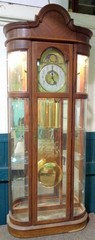 Ridgeway Lighted Grandfather Curio Clock