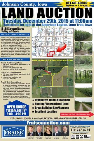 Johnson County Iowa Property Auction
